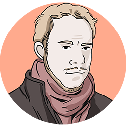 A picture of a man with a scarf