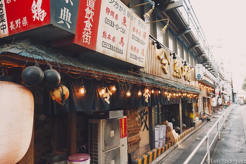 Izakaya de todo tipo bajo las vías del tren