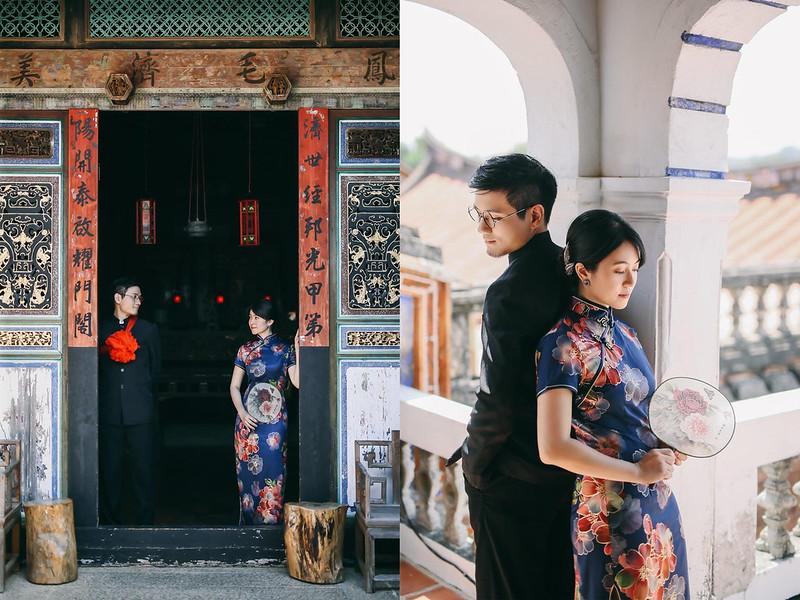 復古古裝婚紗