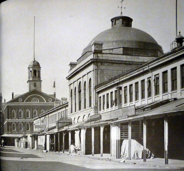 Boston, MA Fanueil Hall and Quincy Market, 1937