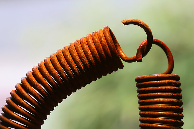 rusty coil spring