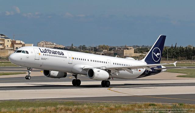 D-AIDD LMML 22-03-2021 Lufthansa Airbus A321-231 CN 4585