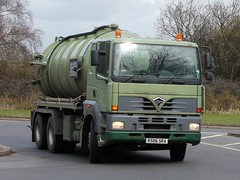 quicksilver coaches posted a photo:	R586 SRA1998 Foden Alpha 3000 380Cammack & Wilcox Ltd, Wollaston, NorthamptonshireBuckingham, 15 March 2021New to Hardstaff Haulage, Nottingham as a 4x2 tractor unit