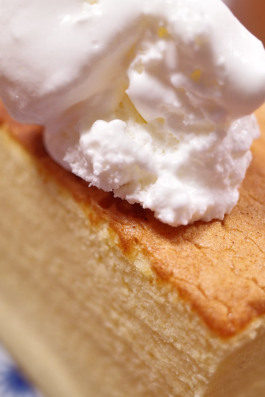taiwanese castella with whip cream