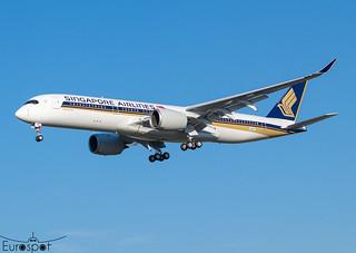 F-WZFX / 9V-SHU Airbus A350-941 Singapore Airlines * Toulouse Blagnac 2021 *
