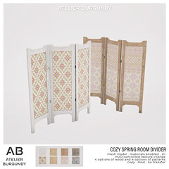 Atelier Burgundy . Cozy Spring Room Divider