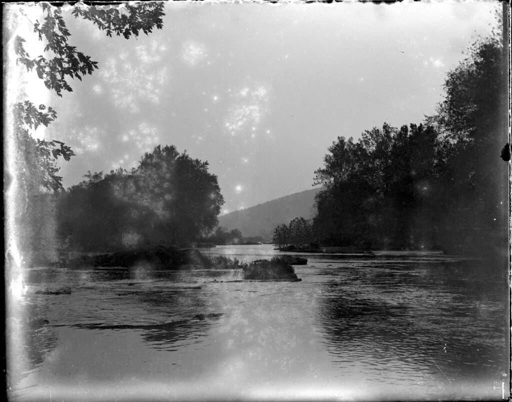 The Potomac River Near Point of Rocks, Maryland, 1901, Glass Negative