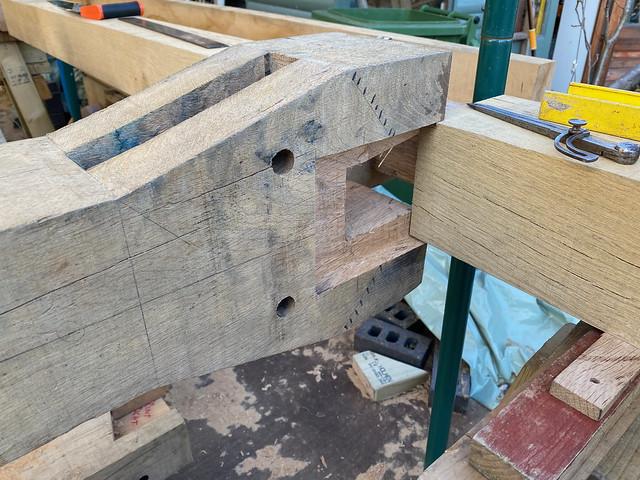 King post to ridge beam joint - 1