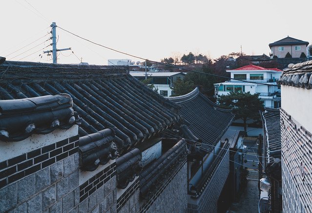 Evening colors over Bukchon