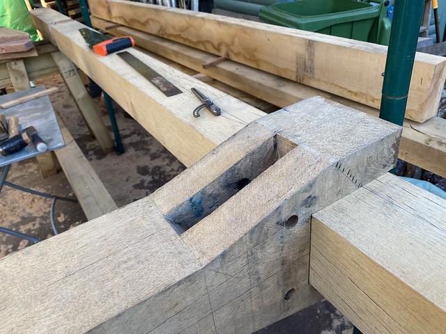 King post to ridge beam joint - 2