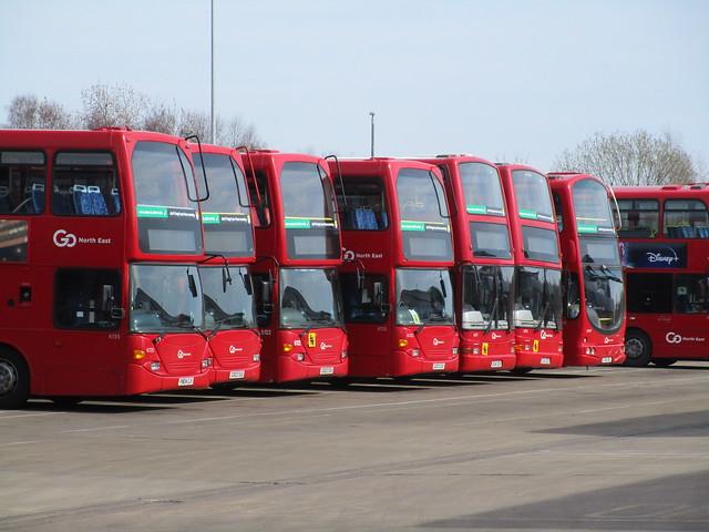 Go North East 6135, 6124, 6122, 6125, 6931, 6926 & 6909. Riverside Depot, Gateshead