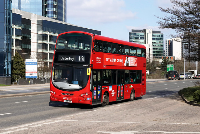 Route H91, London United, VH45124, LJ15JYY