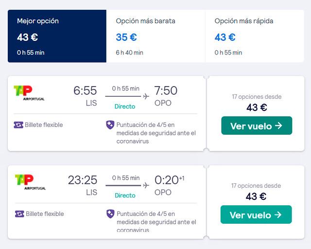 Como ir a Oporto desde Lisboa