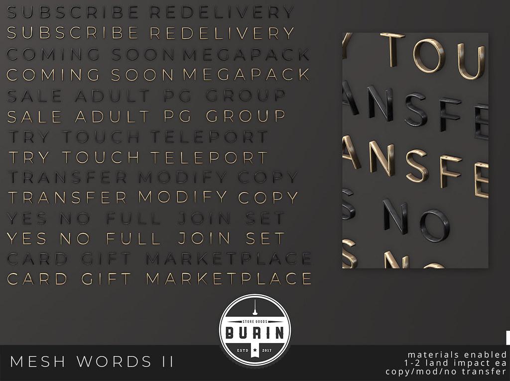 Mesh Words Pack 2