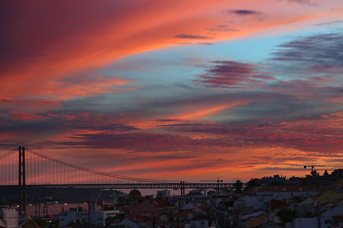 lisboa lisbon sunset sky clouds portugal tejo frommywindow landscape colours