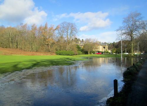 Balbirnie House with Frozen Flood
