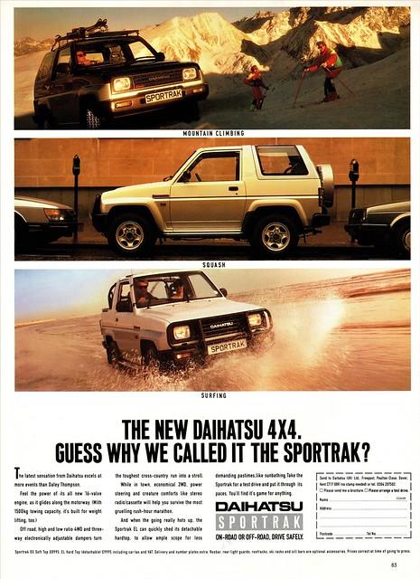 1989 Daihatsu Sportrak (U.K. Ad)