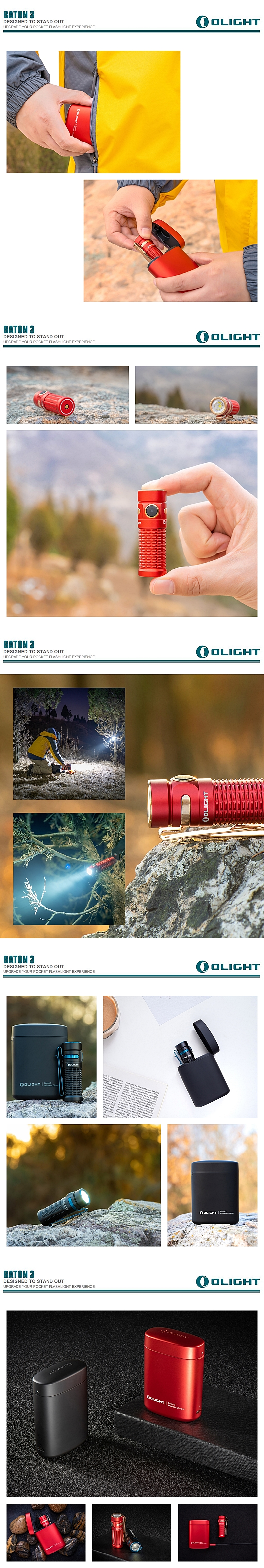 Olight Baton 3 Premium Edition  1,200 lumens powerful Baton 3 and portable wireless charger (4)