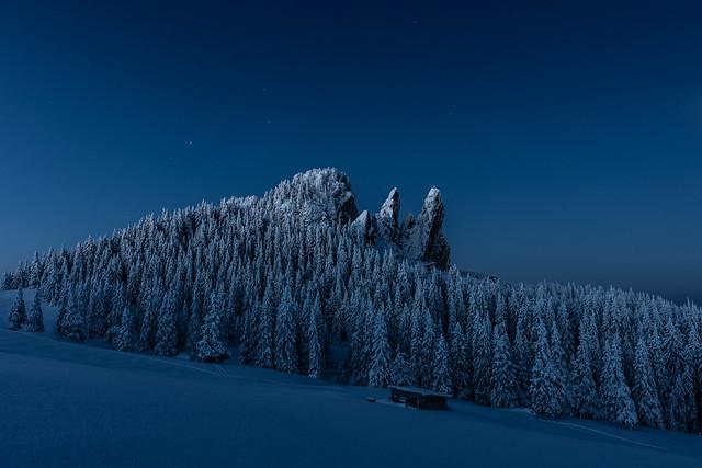 Rarau's blue hour