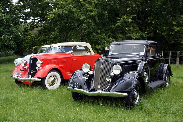 1934 Plymouth Coupe and Roadster.