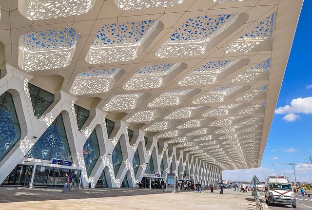 Marrakech airport, Marokko
