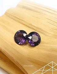 Purple Spinel Gem set