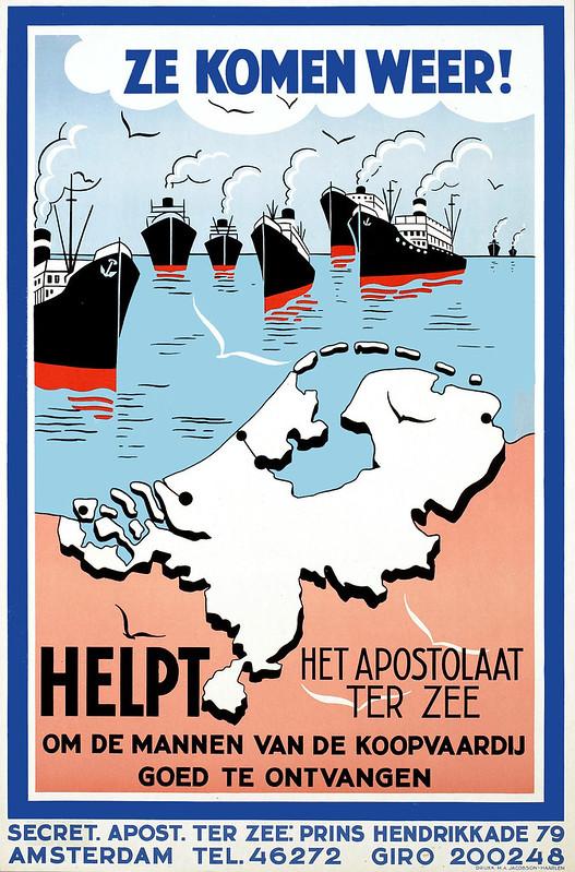 Ze komen weer! Het apostolaat ter zee, Helpt om de mannen van de Koopvaardij goed te ontvangen