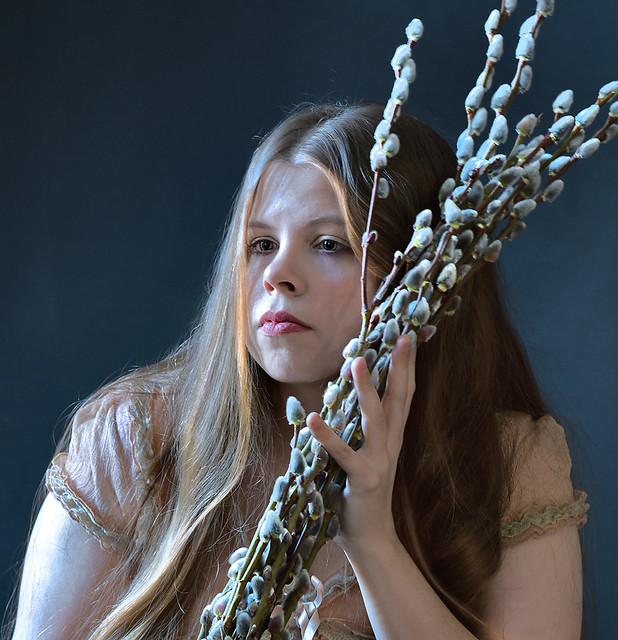 Girl with Catkins