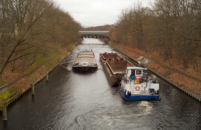 Berlin Teltowkanal Binnenschiffe 23.3.2021