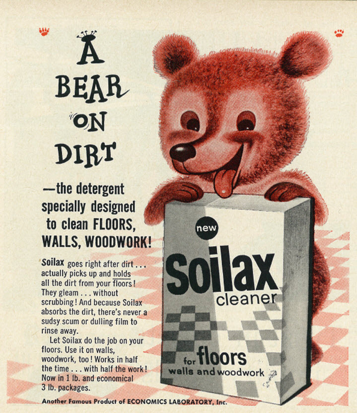 Soilax/Economics Laboratory, Inc. - published in Good Housekeeping - February 1958