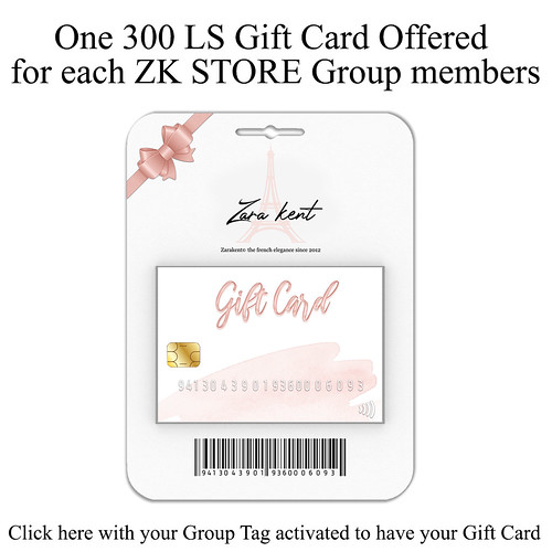 ZK STORE GIFT CARD OFFERED FOR ZK GROUP MEMBERS ONLY!!