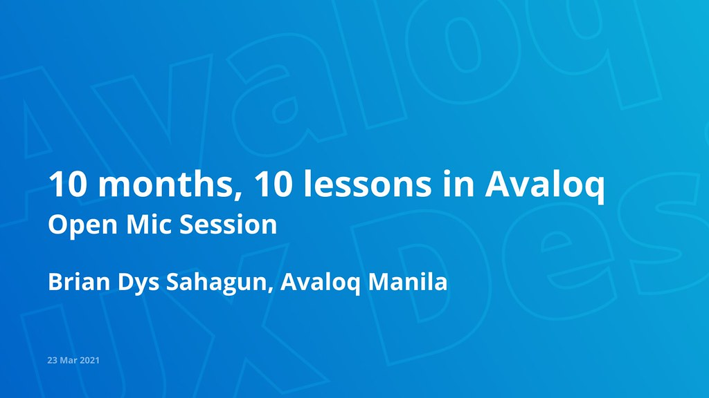10 months, 10 lessons in Avaloq