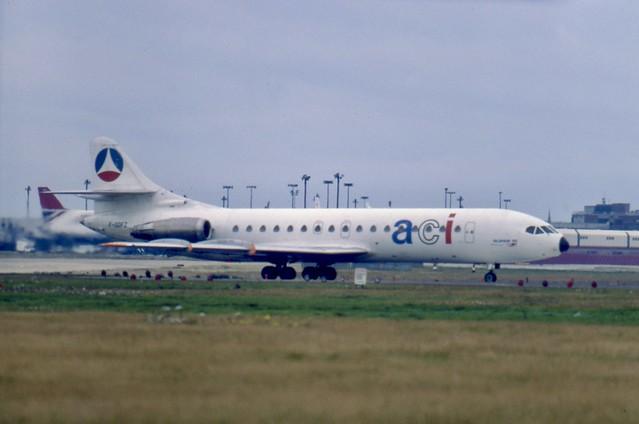 F-GDFZ Sud Aviation Se-210 Caravelle 10B3 of ACI at London Heathrow