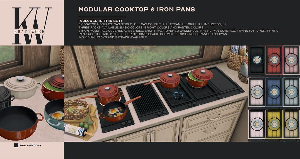 KraftWork Modular Cooktop & Iron Pans at Uber