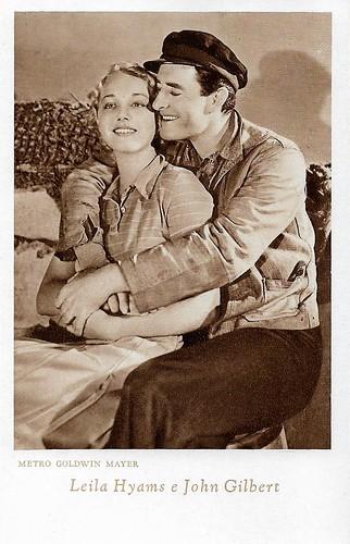 John Gilbert and Leila Hyams in Way of a Sailor (1930)