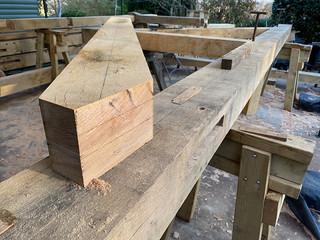 Second principal rafter mark-up - 2