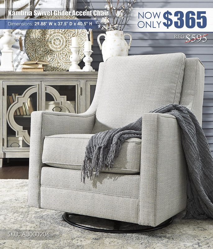 Kambria Swivel Glider Accent Chair_A3000206