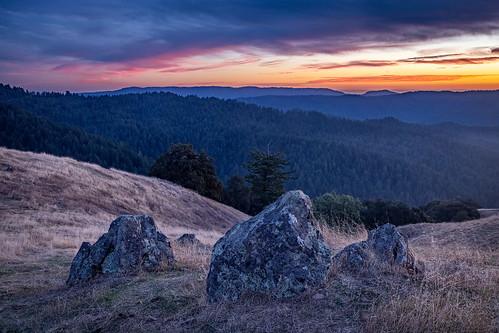 california longridge longridgeopenspacepreserve midpeninsularegionalopenspacedistrict osp santacruzmountains usa unitedstates landscape sunset