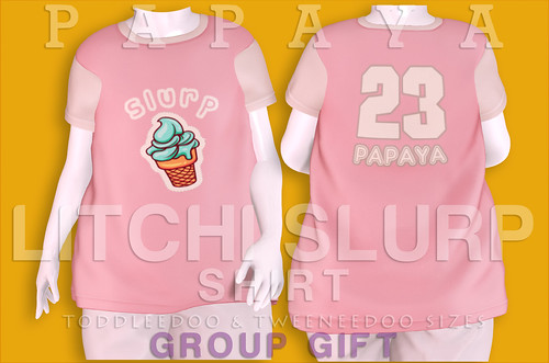 Papaya - LITCHI SLURP Shirt Group gift AD