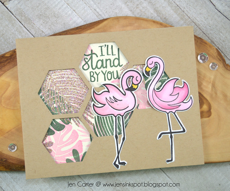 Jen Carter CP Tropically Yours Stand Tall Fabulous Leave Me Hexagon Cabana Tiles 1