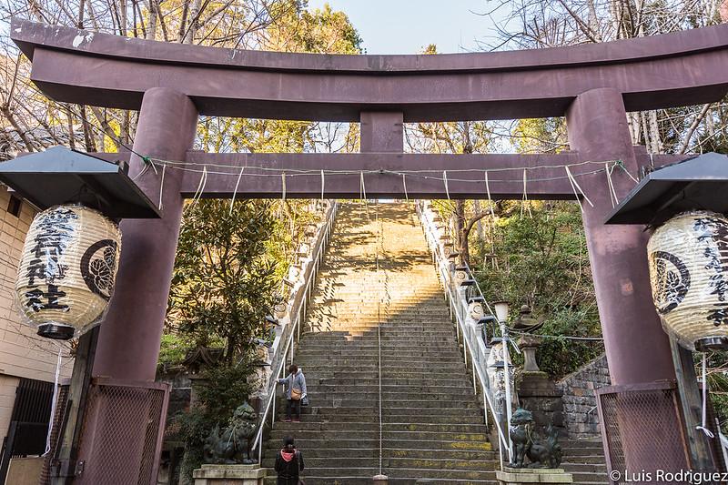Escaleras hacia el éxito del santuario Atago