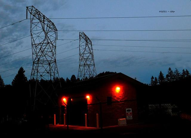 Small Neighborhood Substation & Pair of Pylons