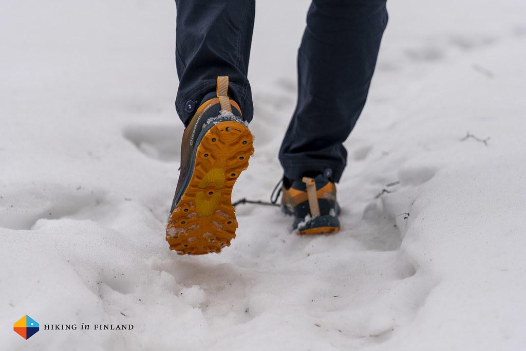 Icebug Oribi5 BUGrip in the snow