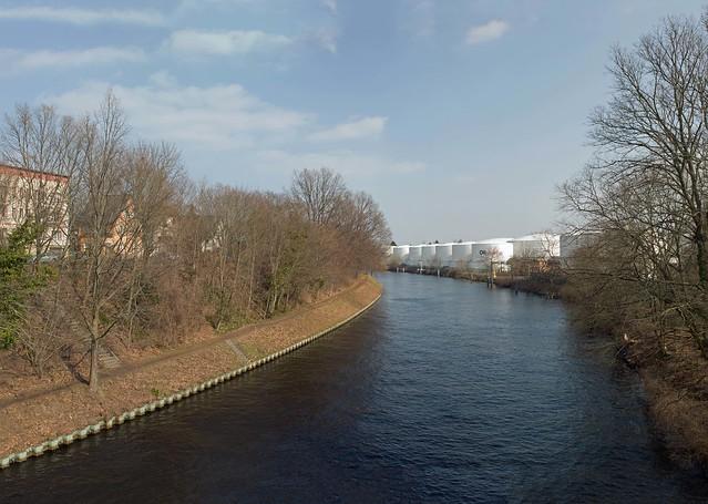 Teltowkanal Berlin Lankwitz Tanklager 24.3.2021 Panorama
