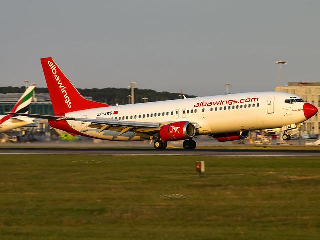 Albawings | Boeing 737-408 | ZA-AWB