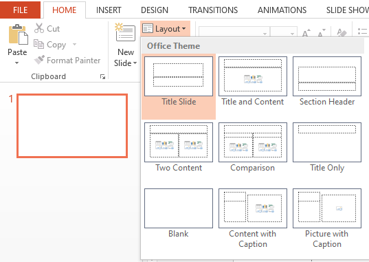Layout PowerPoint
