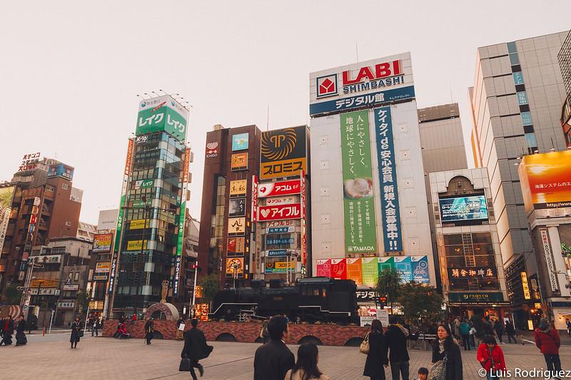 SL Plaza en Shinbashi