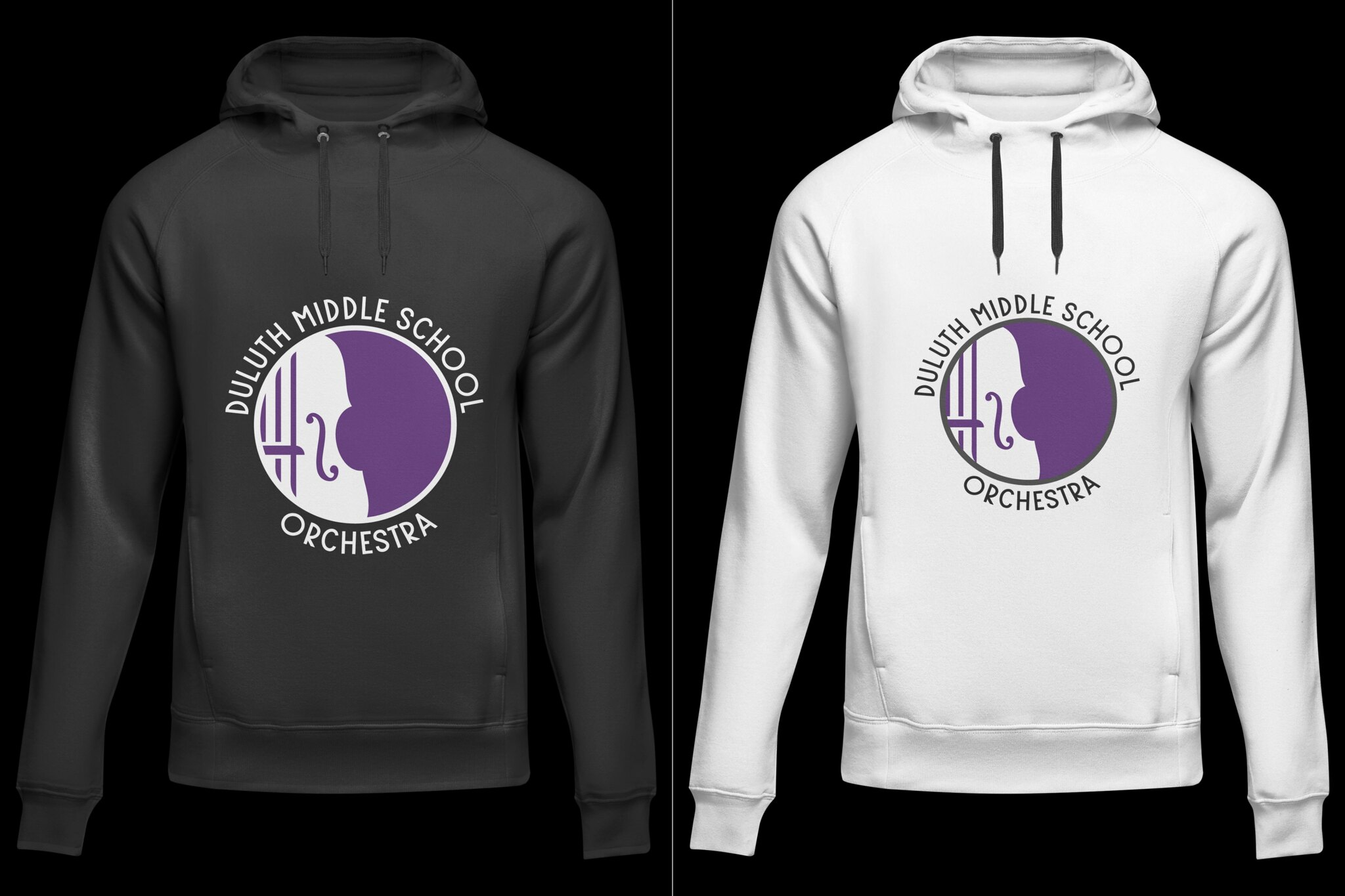 Duluth Middle School (DMS) Orchestra Apparel Art Spring 2021
