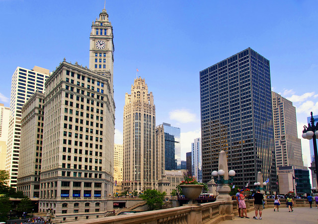 Eclectic Architecture on the Chicago Riverwalk