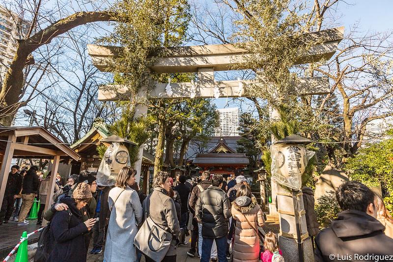 El santuario, con muchísima gente en Año Nuevo